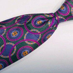 Stefano Ricci Vibrant Multicolor Geometric tie